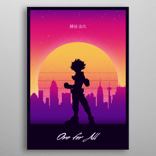 For My hero academia fans :) metal poster