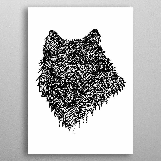 Abstract Wolf Animals Poster Print Metal Posters Displate