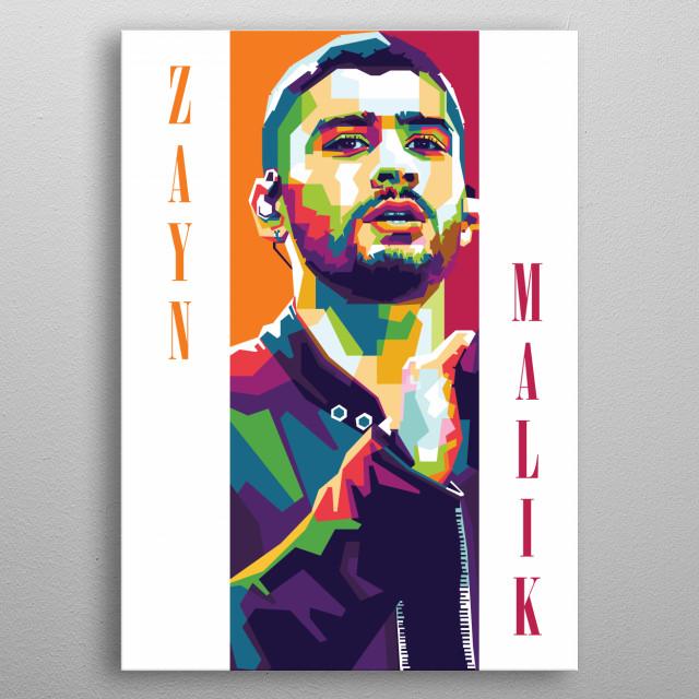 Zayn Malik One Direction metal poster