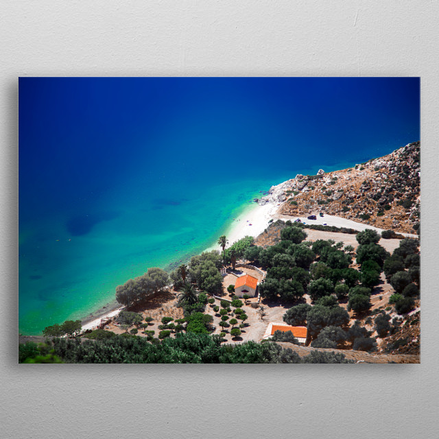 Landscapes of Kefalonia | Image by Chantelle Flores  metal poster