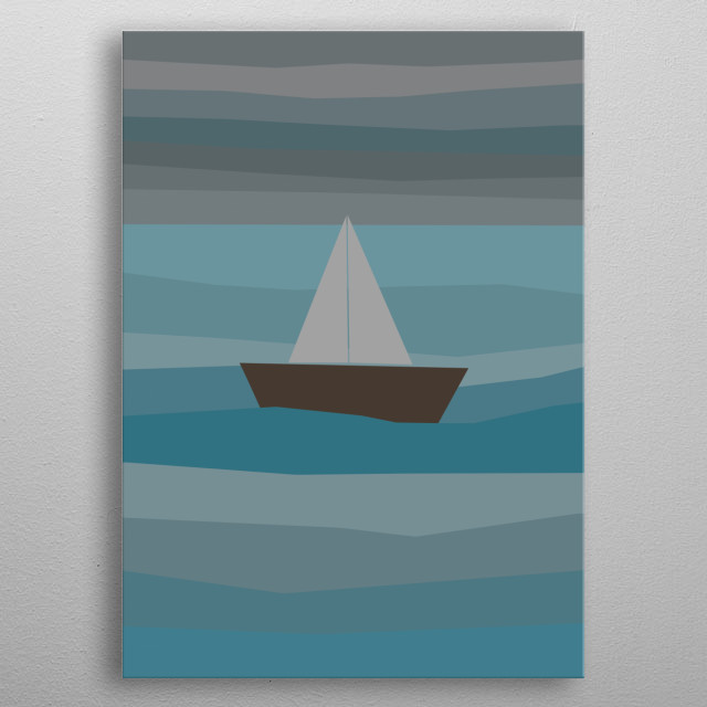 Coming storm in the sea metal poster