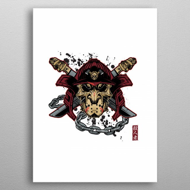 Inspired by a traditional Kabuto Samurai mask and the maniac we all know and love metal poster