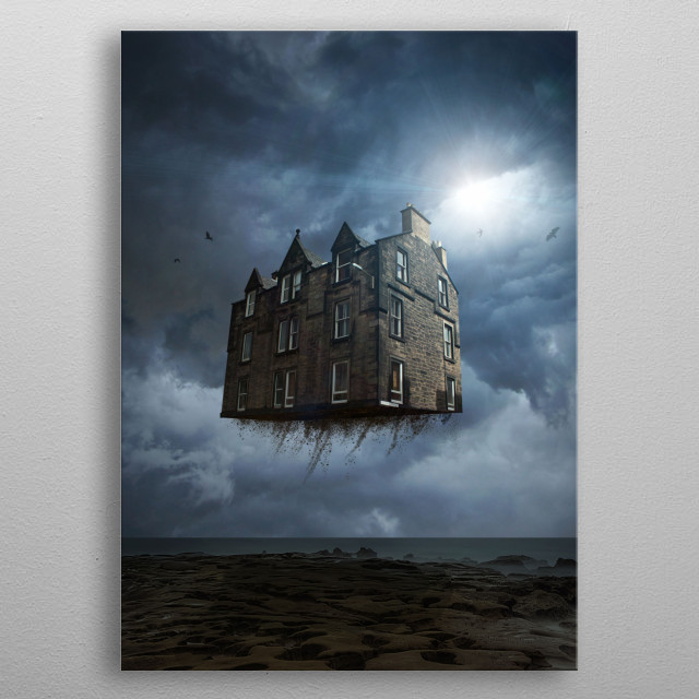 A dream about traveling with home.  metal poster