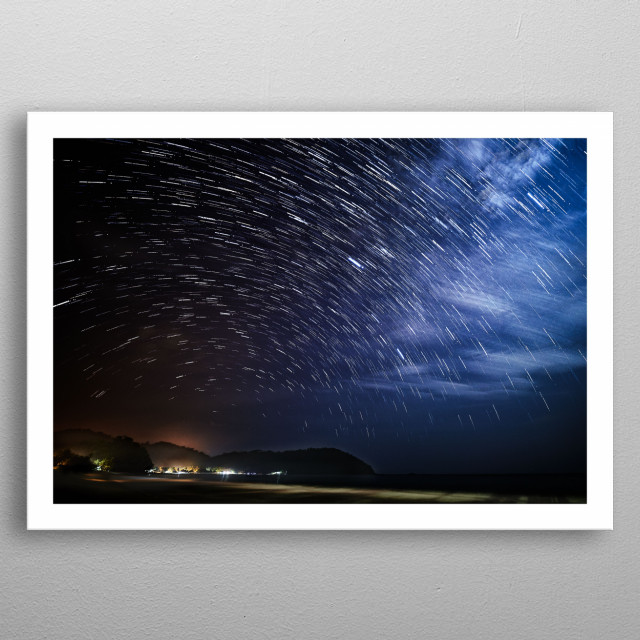 How lucky those people that lives under thousands of stars. How lucky they are that they can see the stars move every breath they take. metal poster