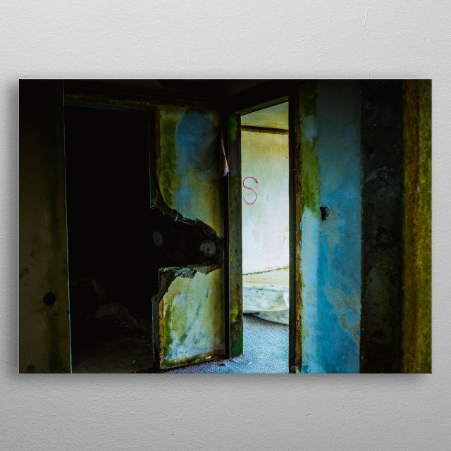 Abandoned | Image by Chantelle Flores  metal poster