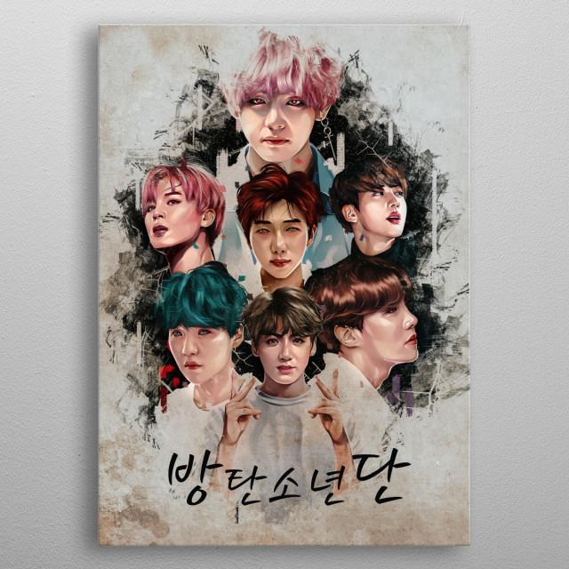 BTS Bulletproof Boy Scouts metal poster