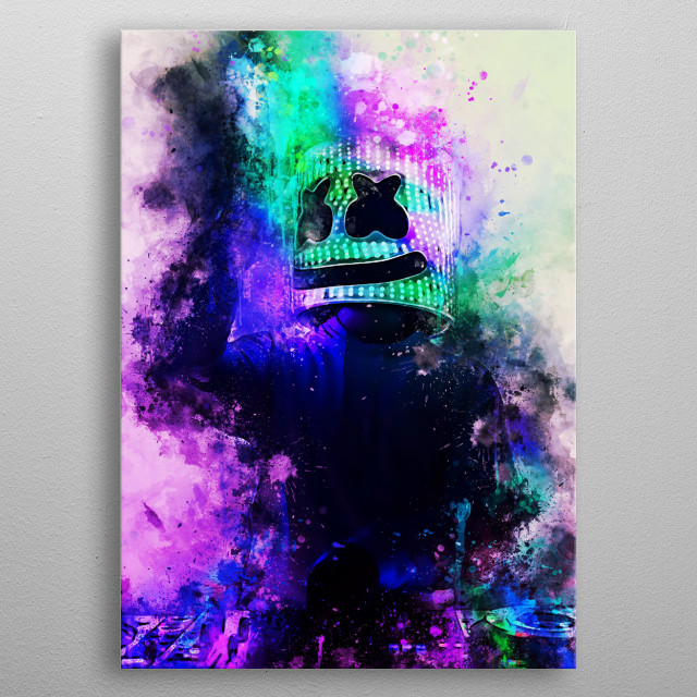Marshmello, is an American electronic music producer and DJ.  metal poster