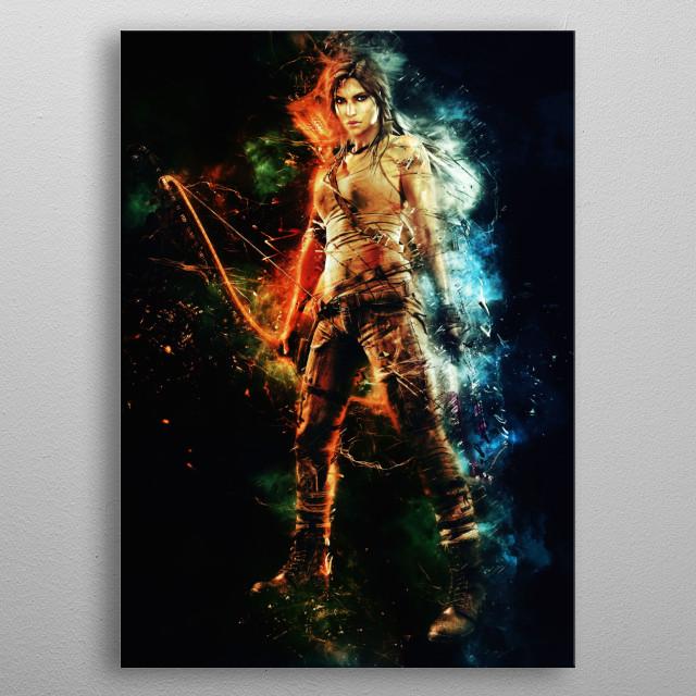 Lara Croft - Tomb raider  metal poster