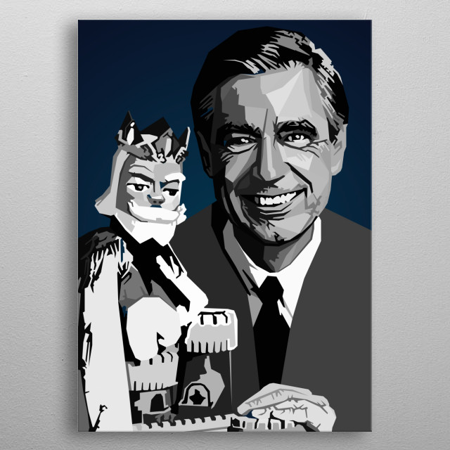 Fred Rogers reator, composer, producer, head writer, showrunner  metal poster