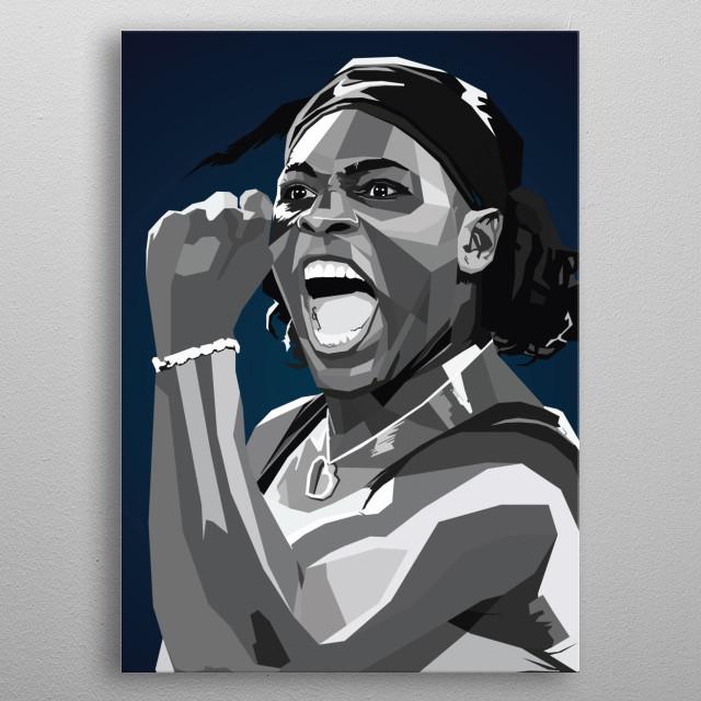 Serena Williams wpap art tennis sport Jameka  metal poster
