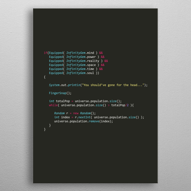 Programmer poster in java metal poster