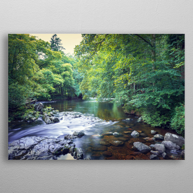 Betws-y-Coed is one of the honeypot locations in Snowdonia.  metal poster