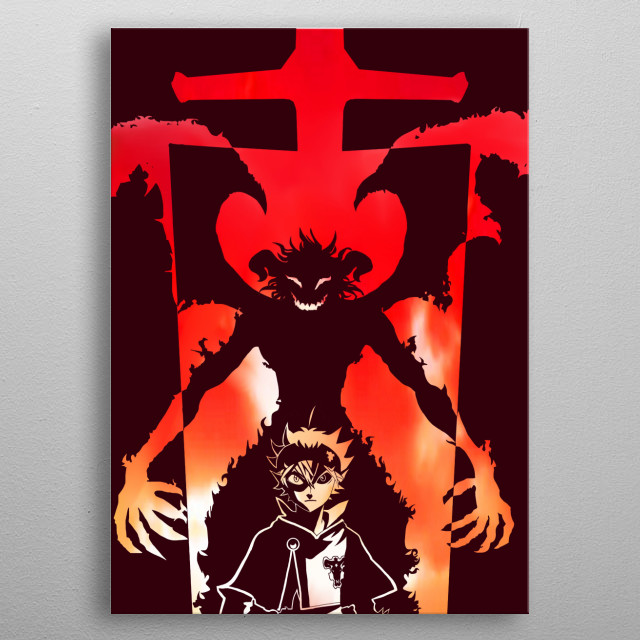 They say that in the 5 clover resides a demon. metal poster