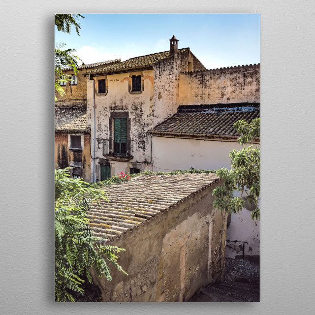 Altafulla is a coastal town in the province of Tarragona which has a beautiful historic quarter, declared of Cultural Interest metal poster