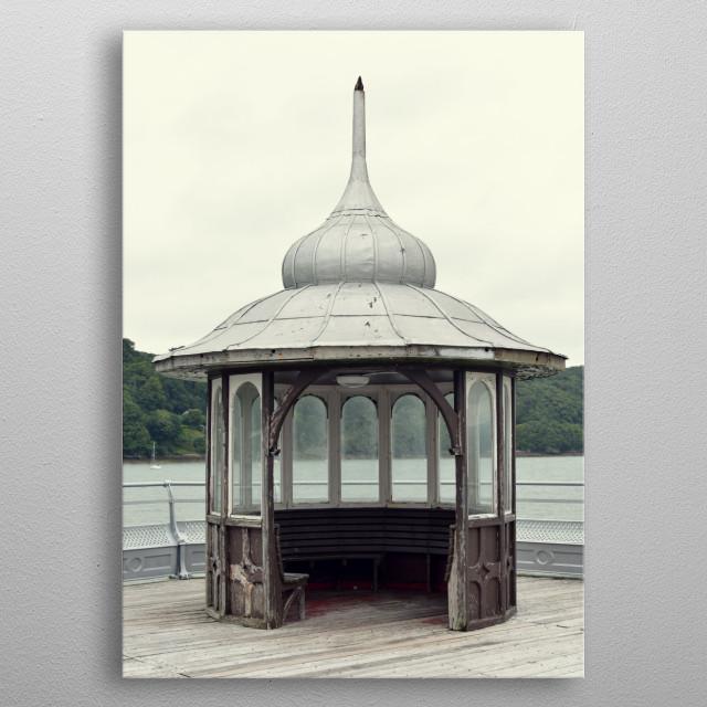 Bangor Pier or Garth Pier is a Grade II listed structure in Bangor, Gwynedd, North Wales metal poster