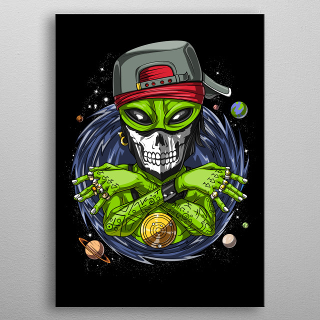 This Space Alien Gangster product makes a perfect gift for a science fiction lover. metal poster