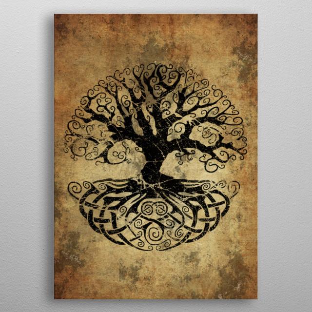 Yggdrasil Tree of Life metal poster
