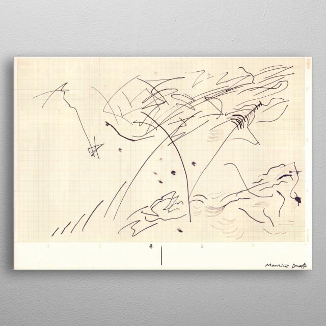 Neo Expressionismo Abstrato nanquim s/ papel milimetrado 21 x 29,7 cm 2018 Mauricio Duarte (Divyam Anuragi) metal poster
