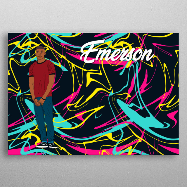 Emerson is a character for me and my bro's mobile game called UCartoon. The official fb page for Ucartoon  metal poster