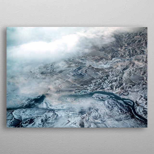 Aerial Views of Norway | Image by Chantelle Flores  metal poster