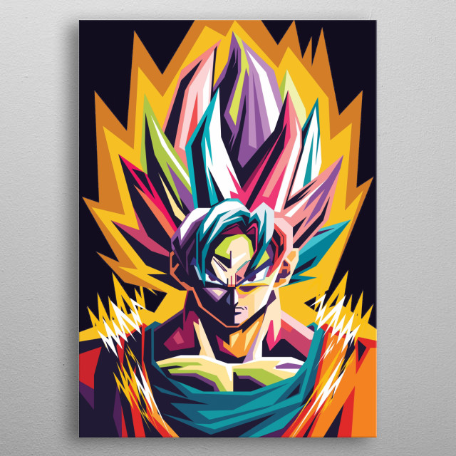 Goku is the main character in the Dragon Ball story. Goku who owns this tail is a Saiya, metal poster