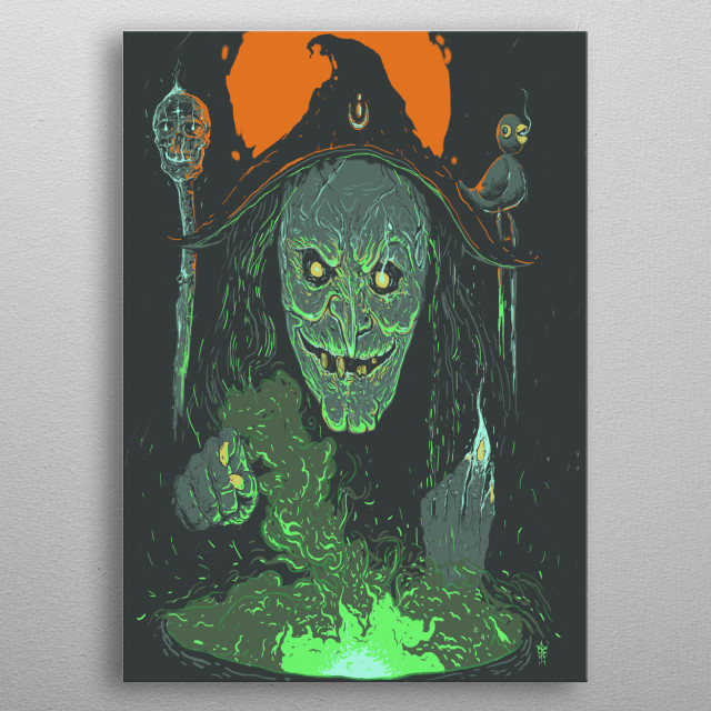 always a fan of horror genre, This one just pop out while listening to music. metal poster