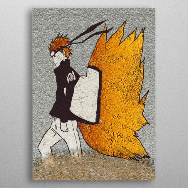 Naruto-Golden Graffiti: IInspiration from Naruto Shippuden Ending 17 metal poster