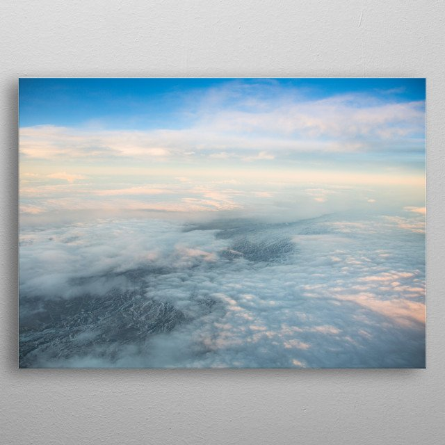 Aerial Views of Norway   Image by Chantelle Flores  metal poster