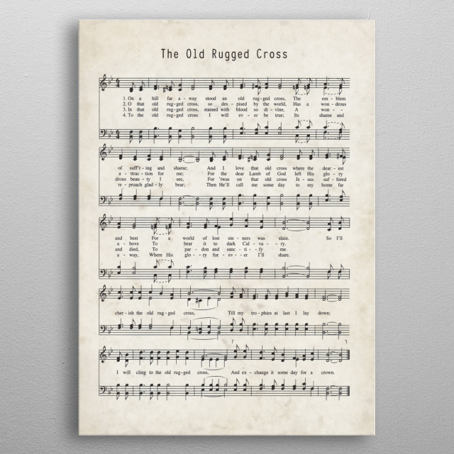 image about Printable Hymns Sheet Music identified as Hymn The Previous Rugged Cross through Gianfranco Grenar metallic