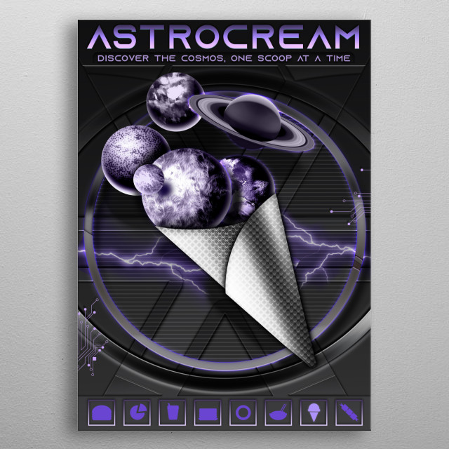 ASTROcream Discover The Cosmos one Scoop at a time. metal poster