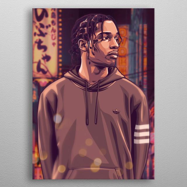 ASAP Rocky portrait poster metal poster