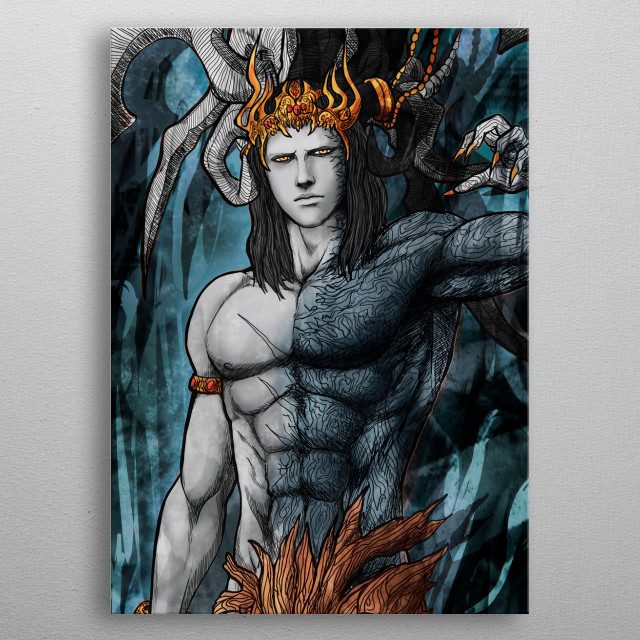 Ifrit Astral Corrupted 2 metal poster