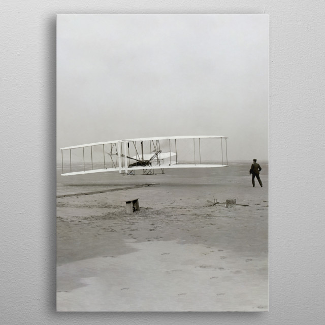 First flight by the Wright Brothers metal poster