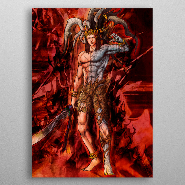 Ifrit Astral metal poster