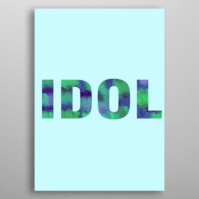 BTS metal poster
