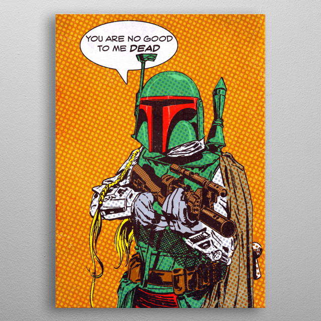 This marvelous metal poster designed by Star_Wars to add authenticity to your place. Display your passion to the whole world. metal poster