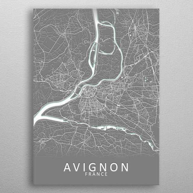 High-quality metal print from amazing 3D City Maps collection will bring unique style to your space and will show off your personality. metal poster
