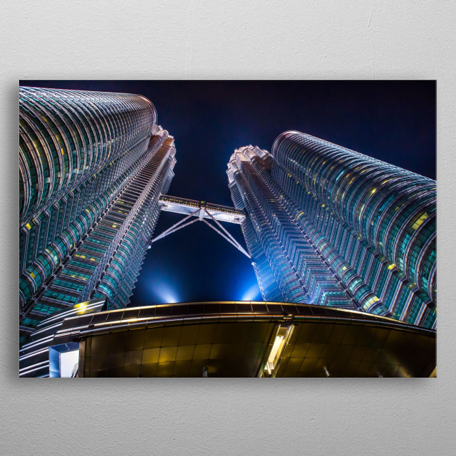 Nightscapes Kuala Lumpur | Image by Chantelle Flores  metal poster