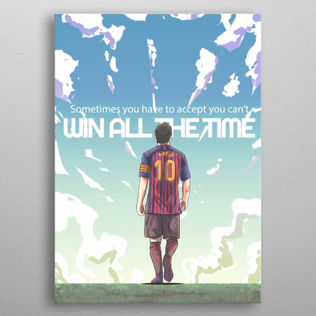 Lionel Messi metal poster