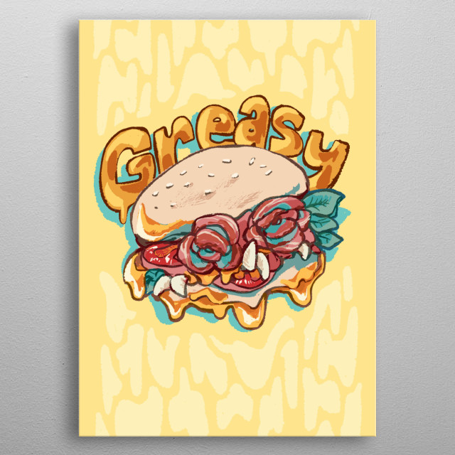 Who would resist from getting a bite from this sloppy goodness!, Good burger good juicy burger metal poster