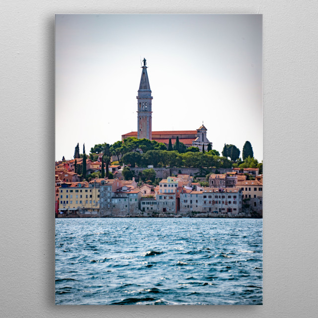 Rovinj in Croatia metal poster