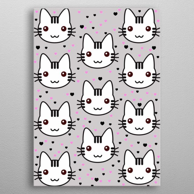 cats metal poster
