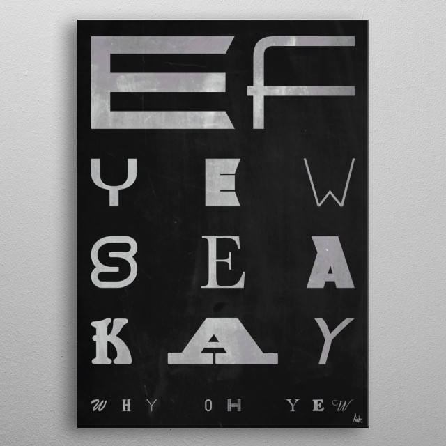 Ef Yew Sea Kay Why Oh Yew - Fuck You metal poster