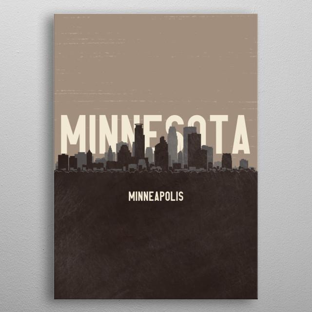 Minneapolis Minnesota metal poster
