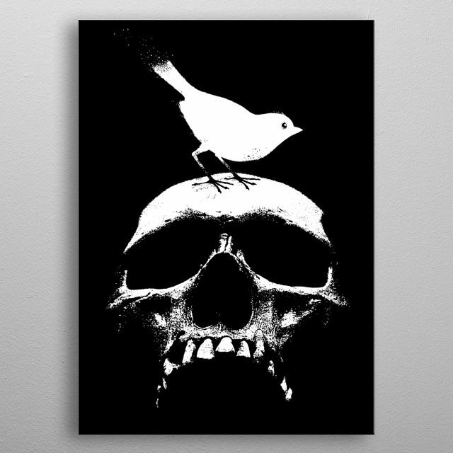 Spring Skull-life and Death-Reborn-Bird-Allegory metal poster