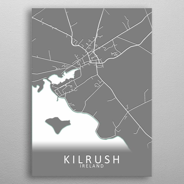 Kilrush Ireland City Map metal poster