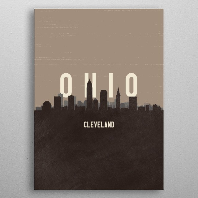 High-quality metal print from amazing Minimal Skyline Portraits collection will bring unique style to your space and will show off your personality. metal poster