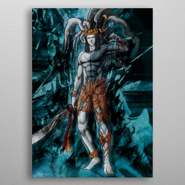 Ifrit Astral Corrupted  metal poster