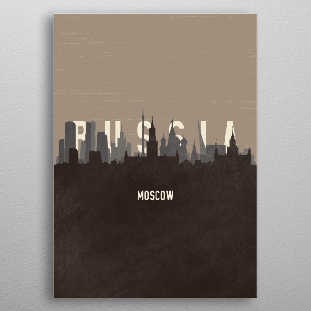 Moscow Russia metal poster
