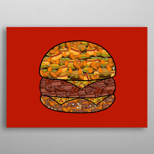 A most delicious way to color this wonderful food metal poster